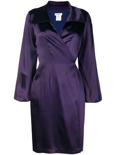 платье на запах с объемными рукавами Yves Saint Laurent Vintage