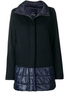 утепленное пальто с дутыми панелями Fay