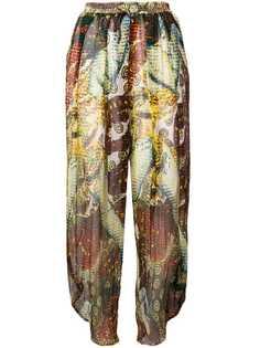 прозрачные брюки с принтом Jean Paul Gaultier Vintage