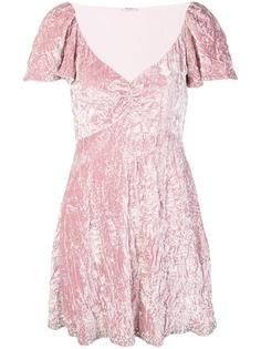 расклешенное платье свободного кроя Miu Miu