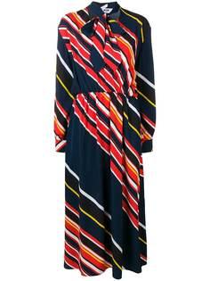 платье в полоску с бантом MSGM