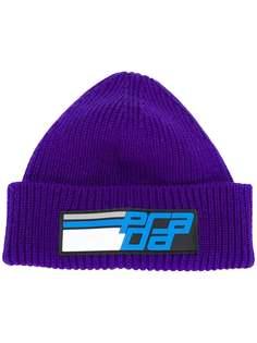 шапка-бини с логотипом Prada