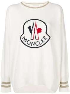 свитер с вышитым логотипом Moncler