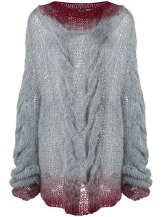 chunky cable knit sweater Ann Demeulemeester