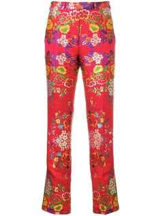 жаккардовые брюки с цветочным узором Etro