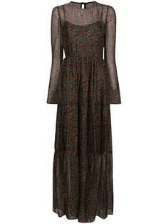 платье макси с завышенной талией и цветочным принтом Philosophy Di Lorenzo Serafini