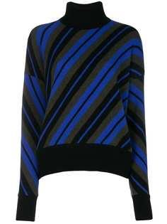 свитер с высоким воротом и диагональными полосками Marni
