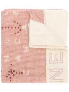 вязаный шарф с логотипом Chanel Vintage