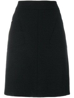 юбка  А-образного силуэта с карманами Chanel Vintage