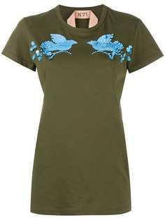 футболка с отделкой пайетками Nº21