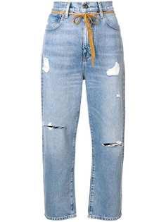 укороченные джинсы с эффектом потертости Levi's: Made & Crafted
