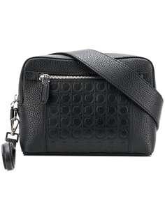 сумка через плечо с тиснением Gancio Salvatore Ferragamo