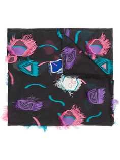 fringed scarf Giorgio Armani