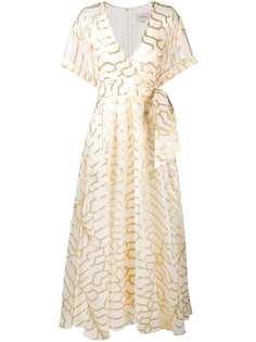 длинное платье с запахом Temperley London