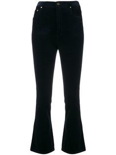 вельветовые укороченные расклешенные брюки Miu Miu