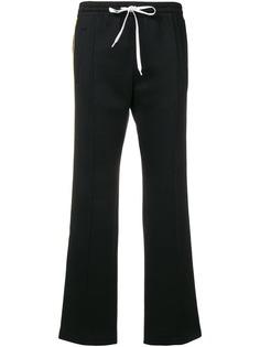 укороченные спортивные брюки с полосками по бокам Miu Miu