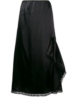 юбка А-силуэта с оборками Miu Miu