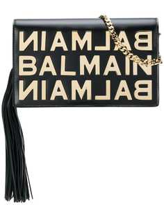 logo plaque crossbody Balmain
