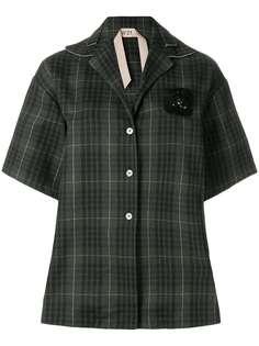 клетчатая рубашка в стиле оверсайз Nº21