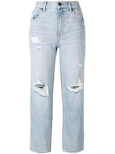 панельные брюки с рваными деталями Alexander Wang