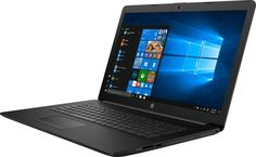 "Ноутбук HP 17-by0009ur, 17.3"", Intel Core i3 7020U 2.3ГГц, 8Гб, 1000Гб, Intel HD Graphics 620, DVD-RW, Free DOS, 4JV95EA, черный"