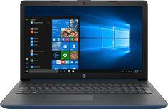 """Ноутбук HP 15-da0077ur, 15.6"""", Intel Core i3 7020U 2.3ГГц, 4Гб, 500Гб, Intel HD Graphics 620, Windows 10, 4JY26EA, синий"""