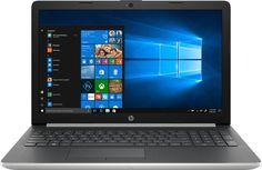 """Ноутбук HP 15-da0102ur, 15.6"""", Intel Core i3 7020U 2.3ГГц, 8Гб, 1000Гб, nVidia GeForce Mx110 - 2048 Мб, Windows 10, 4JV73EA, серебристый"""