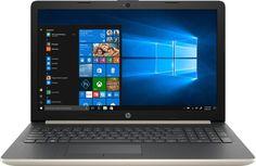 """Ноутбук HP 15-da0087ur, 15.6"""", Intel Core i3 7020U 2.3ГГц, 4Гб, 500Гб, nVidia GeForce Mx110 - 2048 Мб, Windows 10, 4KF67EA, золотистый"""