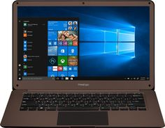 "Ноутбук PRESTIGIO SmartBook 141C2, 14.1"", Intel Celeron N3350 1.1ГГц, 3Гб, 32Гб eMMC, Intel HD Graphics 500, Windows 10 Home, PSB141C02ZFH_DB_CIS, темно-коричневый"