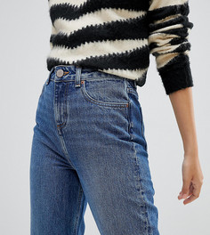 Синие выбеленные джинсы в винтажном стиле ASOS DESIGN Petite - Синий