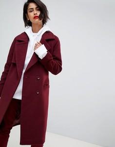 Длинное пальто в классическом стиле 2NDDAY - Красный