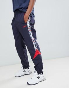 Темно-синие спортивные джоггеры со вставками Diadora - Темно-синий