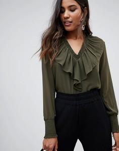 Блузка с оборками Y.A.S Bailey - Зеленый