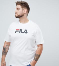 Белая футболка с крупным логотипом Fila Black Line - Белый