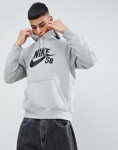 Худи серого цвета Nike SB Icon AJ9733-063 - Серый