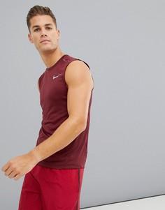 Бордовая майка Nike Running Miler Tech 928305-652 - Фиолетовый