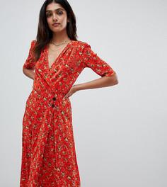 Платье миди на пуговицах с цветочным принтом ASOS DESIGN Tall - Мульти
