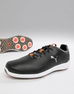 Черные кожаные кроссовки Puma Golf power adapt - Черный