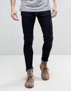 Супероблегающие джинсы насыщенного оранжевого цвета Nudie Jeans Co Skinny Lin - Темно-синий