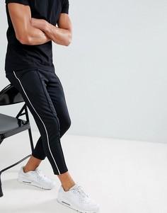 Спортивные штаны с полосками по бокам Only & Sons - Черный