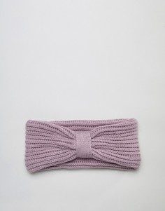 Повязка на голову из переработанного полиэстера в рубчик ASOS DESIGN - Фиолетовый