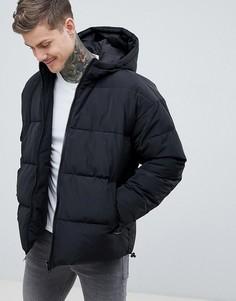 Черная дутая куртка ASOS DESIGN - Черный
