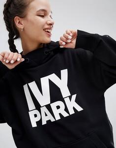 Черный oversize-худи с логотипом Ivy Park - Черный