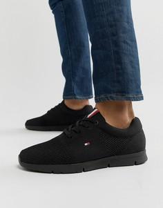 Черные трикотажные кроссовки Tommy Hilfiger Тobias - Черный