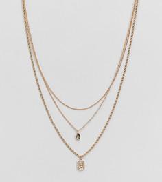 Ярусное золотистое ожерелье в винтажном стиле ASOS DESIGN Curve - Золотой