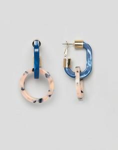 Серьги-кольца из полимера ASOS DESIGN - Мульти