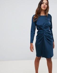 Асимметричное платье с драпировкой Closet London - Зеленый