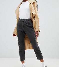 Укороченные джинсы в винтажном стиле Noisy May Petite - Черный