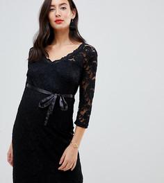Кружевное платье Mamalicious - Черный Mama.Licious