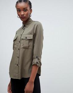 Рубашка в стиле милитари New Look - Зеленый